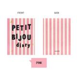 Pink - Monopoly Petit bijou undated daily diary