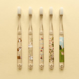 Colorful patterned illustration toothbrush