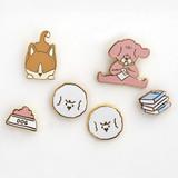 ROMANE My rolly pin badges set