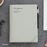 Mint gray - Time for me undated weekly diary planner