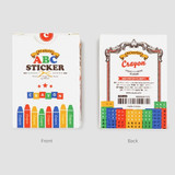 NACOO ABC alphabet crayon sticker set