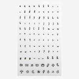 Daily transparent sticker - Alphabet