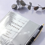 Clear PVC cover with pen holder