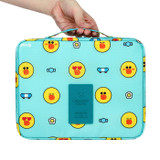 Line friends travel large multi pouch bag organizer