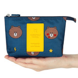 Line friends travel mesh small pocket pouch