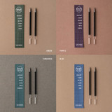 Color -  Livework Life and pieces 0.4mm gel ink pen refill set
