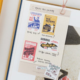 Example of use - NACOO Vintage 3 small label sticker set
