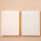 Color - Ardium 400 Squared manuscript paper notepad