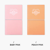 Baby pink, Peach pink - Dear moonlight dateless weekly diary