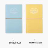 Lovely blue, Prim yellow - Dear moonlight dateless weekly diary