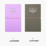 lavender, Cute gray - Dear moonlight dateless weekly diary