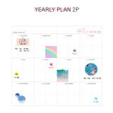 Yearly plan - Dear moonlight dateless weekly diary