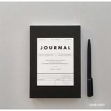 Dark gray - Vintage new color dateless weekly journal planner