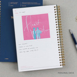 Personal data - Wanna This Classic wire bound dateless daily scheduler