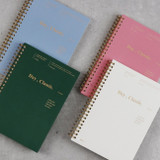 Wanna This Classic wire bound dateless daily agenda scheduler