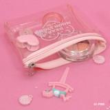 Pink - Dear moonlight twinkle zipper card case
