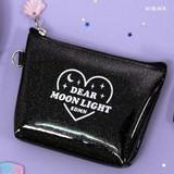Black - Dear moonlight twinkle zipper card case