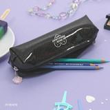 Black - Second mansion Dear moonlight twinkle zipper pen case