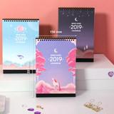 Size - Second mansion 2019 Moonlight desk calendar