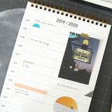 Yearly plan - Second mansion 2019 Moonlight desk calendar