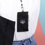 Dear moonlight twinkle zipper card case with neck strap