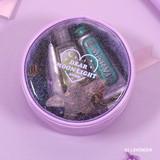 Lavender - Dear moonlight twinkle circle zipper pouch