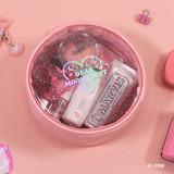 Pink - Dear moonlight twinkle circle zipper pouch
