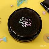 Black - Dear moonlight twinkle circle zipper pouch