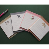 Hello Today Hushed brown small lined memo notepad