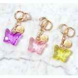 Twinkle butterfly acrylic key ring clip chain holder