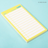 Neon yellow - Lucalab Neon medium checklist memo notepad
