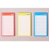 Lucalab Neon medium checklist memo notepad