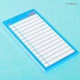 Neon blue - Lucalab Neon medium checklist memo notepad