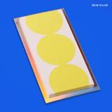 Neon yellow - Lucalab Neon three dots plain notepad