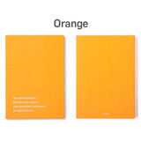 Orange - 12 months dateless weekly diary planner