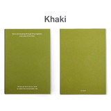Khaki - 12 months dateless weekly diary planner