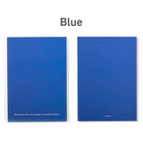 Blue  - 12 months dateless weekly diary planner