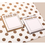 Lucalab Fake ID plain memo notepad