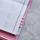 Pink - Feel so good PU adhesive index tab deco sticker