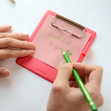 Example of use - Jam small clipboard with pen holder ver2