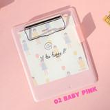 Baby pink - Jam studio Jam small clipboard with pen holder ver2