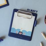 Navy - Jam studio Jam small clipboard with pen holder ver2