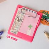 Pink - Jam studio Jam small clipboard with pen holder ver2