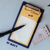 Navy - Jam medium clipboard with pen holder ver2