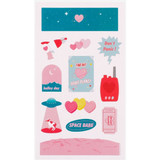 Heart planet - Love and peace paper deco sticker