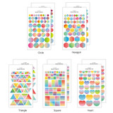 Livework Color palette gradation deco sticker set of 10 sheets