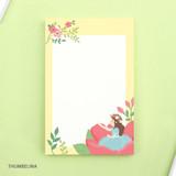 Thumbelina - World literature illustration memo writing notepad