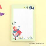 Little red riding hood - World literature illustration memo writing notepad