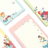 Bookfriends World literature illustration memo writing notepad