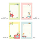 Option - World literature illustration memo writing notepad
